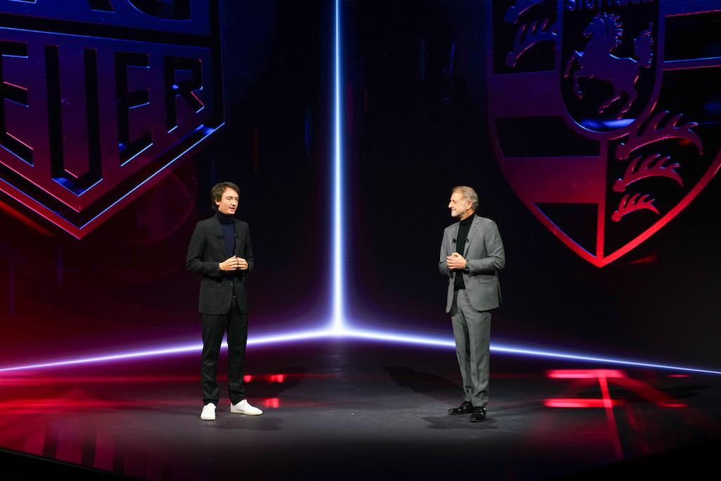 TAG Heuer CEO Frédéric Arnault and Detlev von Platen